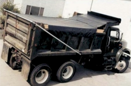 7' x 22' Asphalt Tarp for High Temperature Asphalt conditions with side flaps