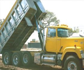Manual Dump Truck Tarp system, Ground Level Crank, Zinc Plated Steel Tarp Arms, External Mount