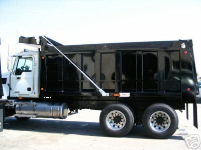 Steel electric dump truck tarp kit 4 spring external for Dump truck electric tarp motors